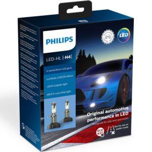 Λάμπες Philips H4 X-Treme Ultinon Led Gen2 12V 22W +250% Περισσότερο Φως 5800K 2τμχ 11342XUWX2