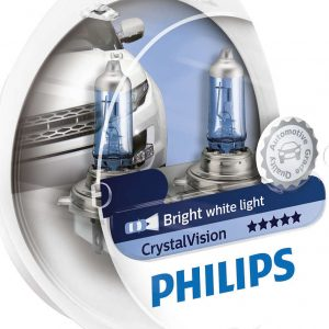 Philips H4 CrystalVision 12V 2τμχ ,12342CVSM
