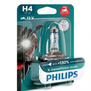 Philips – X-tremeVision Moto H4 +130% 12V 60/55W 1 Τεμάχιο ,12342XVBW