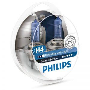Λάμπες Philips H4 12V 60/55W Diamond Vision 5000K ,12342DVS2
