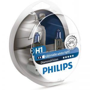 Λάμπες Philips H1 12V 55W Diamond Vision 5000K ,12258DVS2