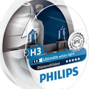Philips H3 Diamond Vision 12V 2τμχ ,12336DVS2